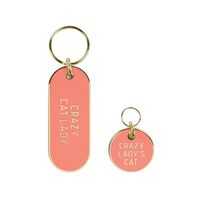 Crazy Cat Lady Keychain and Pet Tag