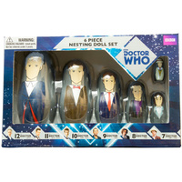 Doctor Who 7th to 12th Doctor Nesting Doll Set