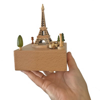 Small Eiffel Tower Wooden Musical Box