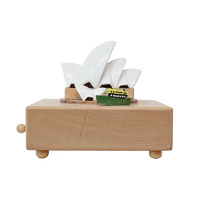 Sydney Opera House Moving Wooden Musical Box