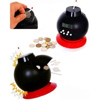 Time Bomb Alarm Clock and Money Bank