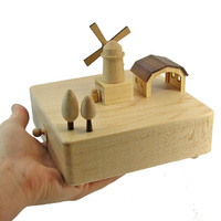 Windmill Moving Wooden Musical Box