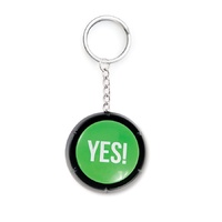 The Yes Button Keyring