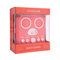 Hot Coral Sunny Life Radio and Speaker