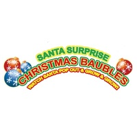 Santa Surprise Christmas Bauble