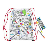 Colour and Learn World Map Backpack
