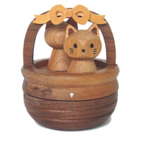 Cat Wooden Egg Timer