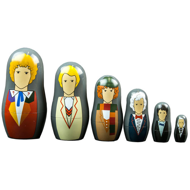 Doctor Who 1st to 6th Doctor Nesting Doll Set