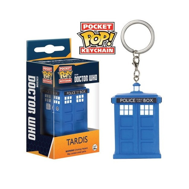 Doctor Who Tardis Pop Keychain
