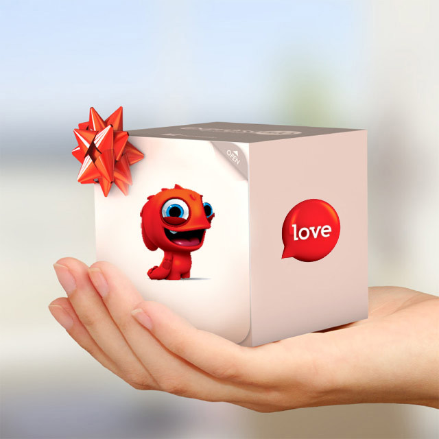 EXPRESSALO Greeting Figure Love