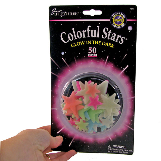 Glow in the Dark Colourful Stars