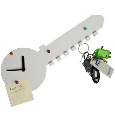 Key Hook Wall Clock
