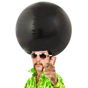 Massive Head - Afro Giant Inflatable Wig