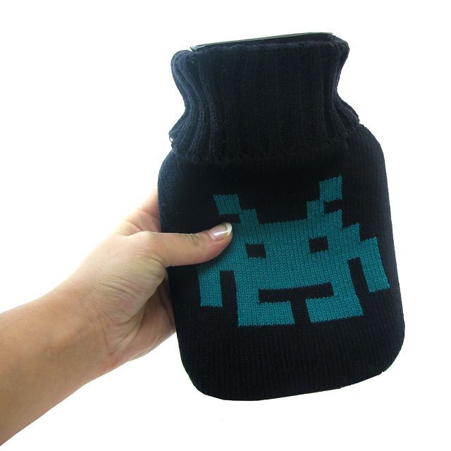 Space Invaders Mini Hot Water Bottle with Cover