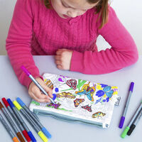 Colour and Learn Butterfly Pencil Case1}