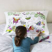 Colour and Learn Butterfly Pillowcase1}