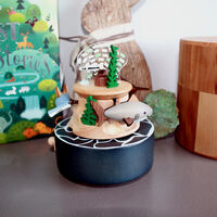 Deep Sea Roaming Moving Wooden Music Box1}