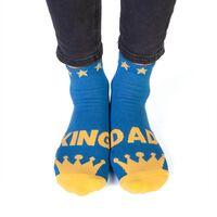 Feet Speak King Dad Socks1}