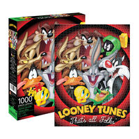 Looney Tunes That's All Folks 1000pc Jigsaw Puzzle1}