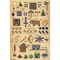 Minecraft Pictograph Poster