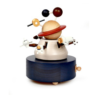 Outer Space Wooden Musical Box