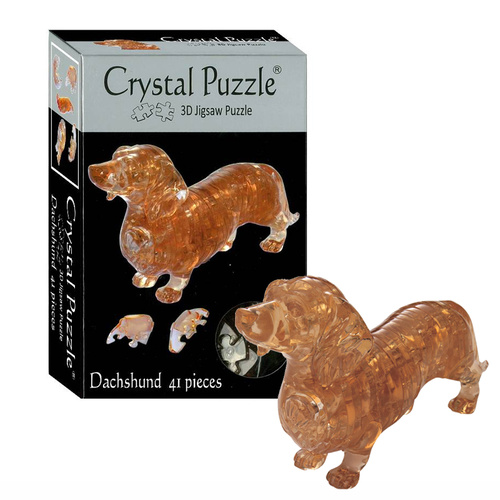 3D Dachshund Crystal Puzzle