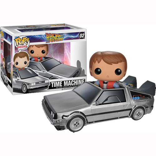 Back to the Future Delorean Time Machine with Marty McFly Pop Vinyl