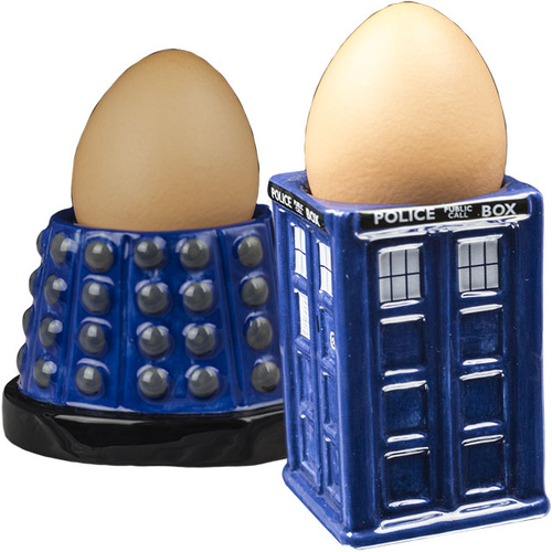 Doctor Who Tardis and Dalek Egg Cup Set
