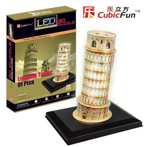 3D LED Leaning Tower of Pisa Puzzle