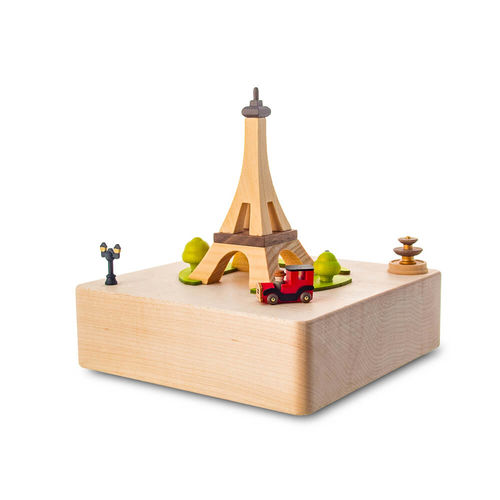 Eiffel Tower Moving Wooden Musical Box