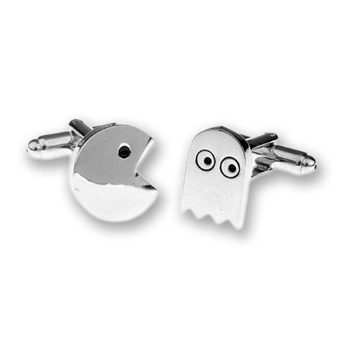 Pac and Ghost Cufflinks