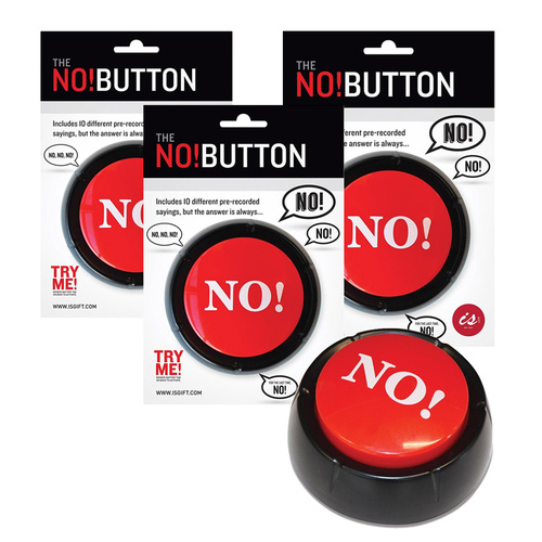 The NO Button 3 Pack