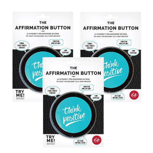 The Affirmation Button 3 Pack