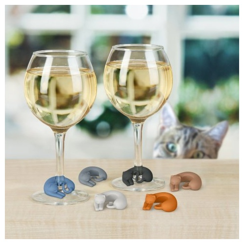 Wine Lives Kitty Wine Markers
